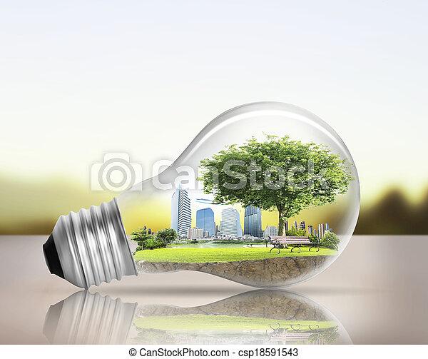 選択肢, 電球, ライト, 概念, エネルギー - csp18591543