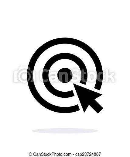 選択, バックグラウンド。, 白, ターゲット, アイコン - csp23724887
