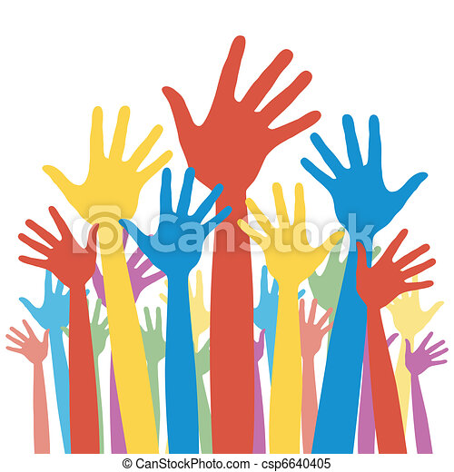 選挙, 将官, 投票, hands. - csp6640405
