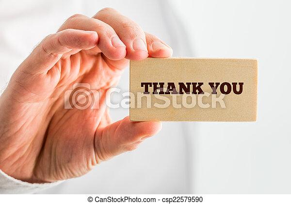 部分, 感謝, 正文, 手, 木頭, 小, 你, 握住 - csp22579590