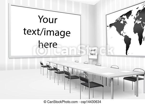 部屋, イラスト, ベクトル, 取締役会議, ∥あるいは∥, 空 - csp14430634