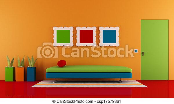 部屋, カラフルである - csp17579361