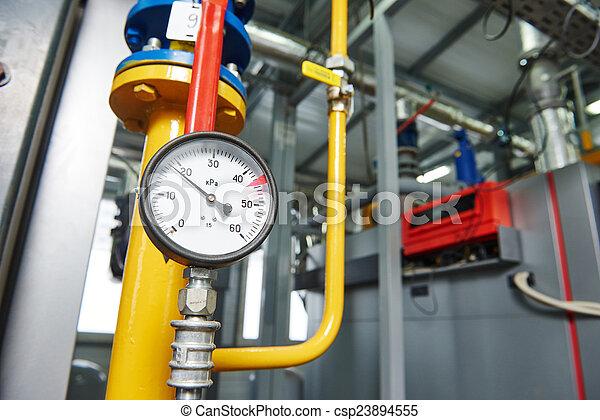 部屋, ガス, システム, 加熱, equipments, ボイラー - csp23894555