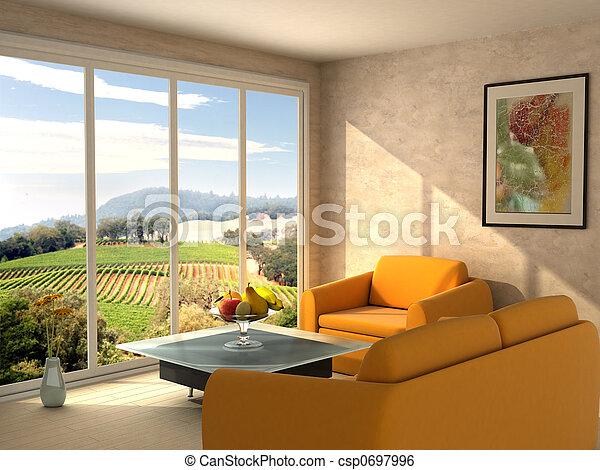 部屋, 光景 - csp0697996