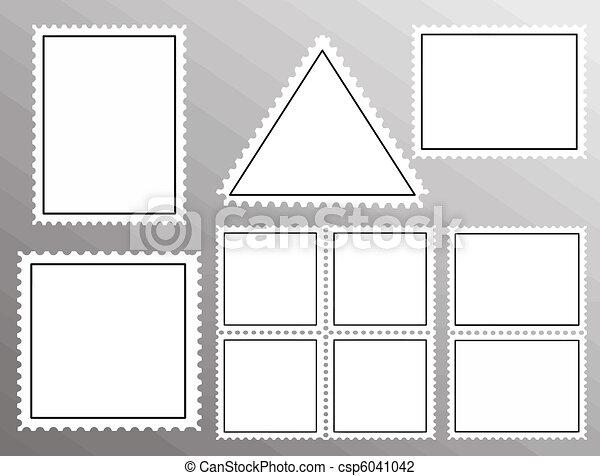 郵便切手, セット, ブランク - csp6041042