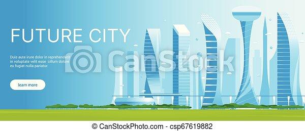 都市の景観, 現代, 01, 未来派 - csp67619882