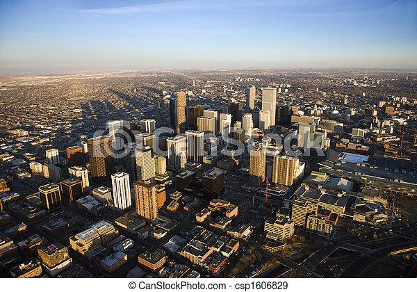 都市の景観, colorado, デンバー, usa. - csp1606829