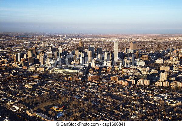 都市の景観, colorado, デンバー, usa. - csp1606841