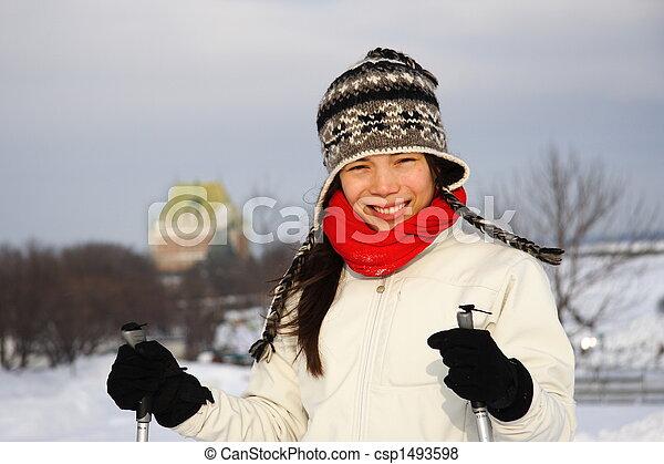都市, ケベック, スキー - csp1493598