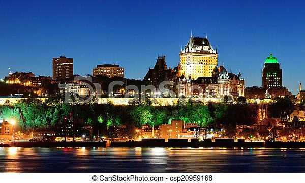 都市, ケベック, 夜 - csp20959168