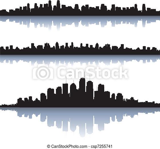 都市, シルエット - csp7255741