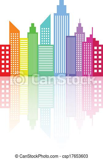 都市 スカイライン, 現代, 超高層ビル - csp17653603