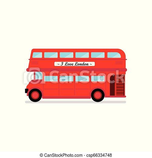 都市, ベクトル, ロンドン, イラスト, バス - csp66334748