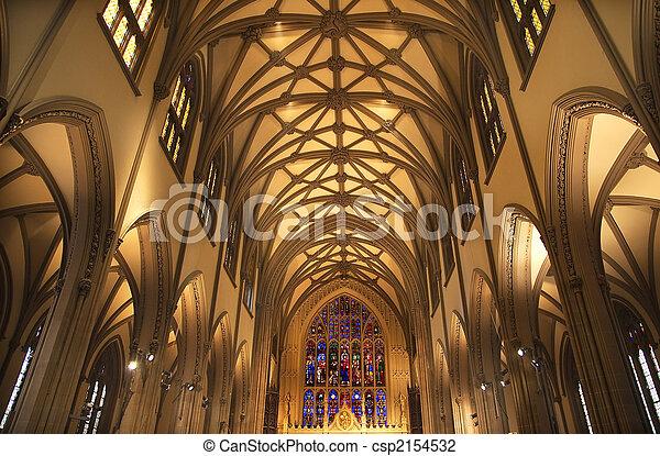 都市, 中, ステンドグラス, ヨーク, 教会, 新しい, 三位一体 - csp2154532