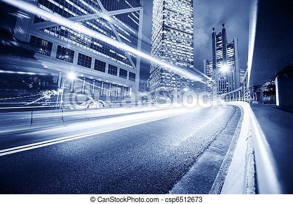 都市, 交通機関, 背景 - csp6512673