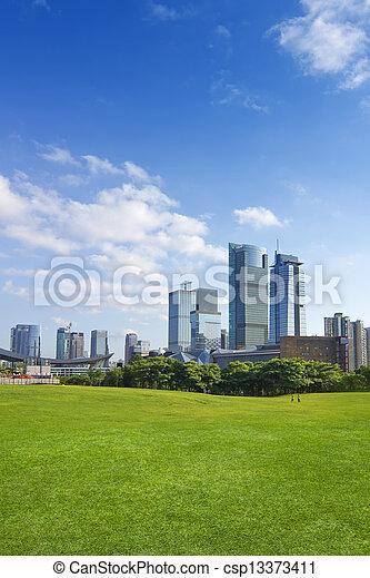 都市 公園 - csp13373411