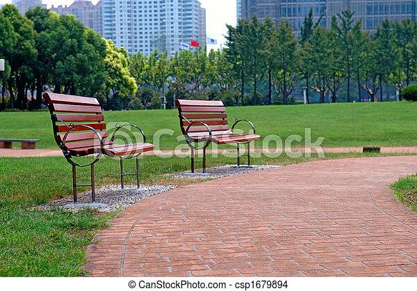 都市 公園, 方法, 歩きなさい - csp1679894