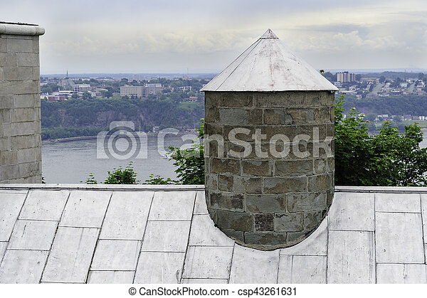都市, 古い, ケベック, 屋根 - csp43261631