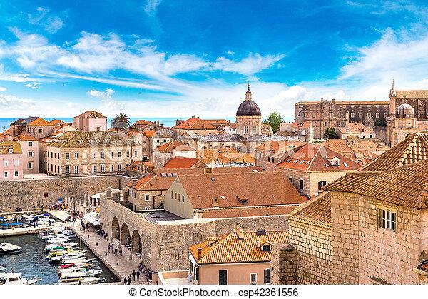 都市, 古い, croatia, dubrovnik - csp42361556