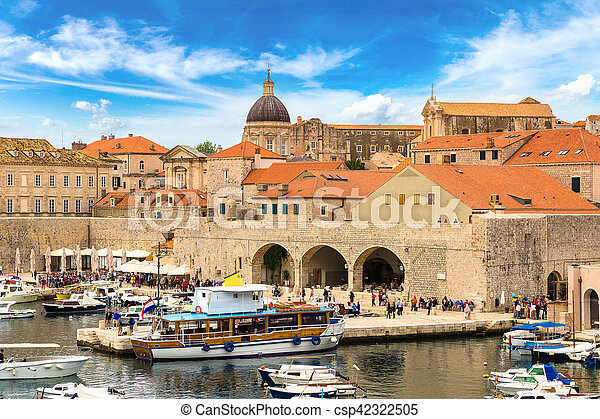 都市, 古い, croatia, dubrovnik - csp42322505