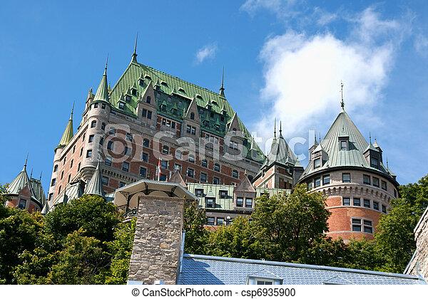 都市, 城, 古い, ケベック, frontenac - csp6935900