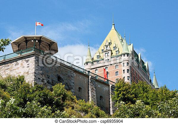 都市, 城, 古い, ケベック, frontenac - csp6935904