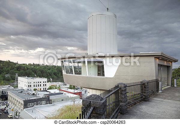都市, 展望台, エレベーター, オレゴン, 市の - csp20064263