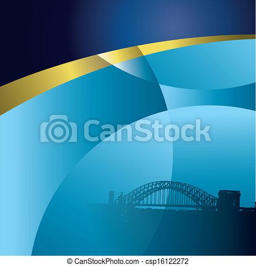 都市, 背景, ベクトル, 抽象的 - csp16122272