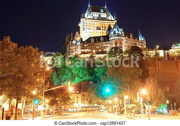 都市 通り, ケベック, 光景 - csp12891437