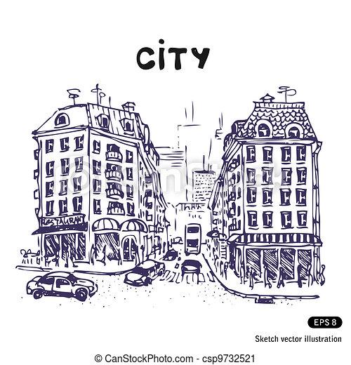 都市 通り, 古い - csp9732521
