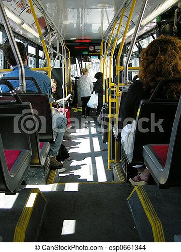 都市, 通過, バス - csp0661344