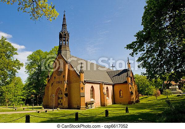 鄉村, 瑞典, 路德教會, 教堂 - csp6617052