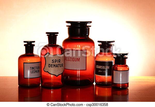 配藥, 管形瓶, 老 - csp30016358