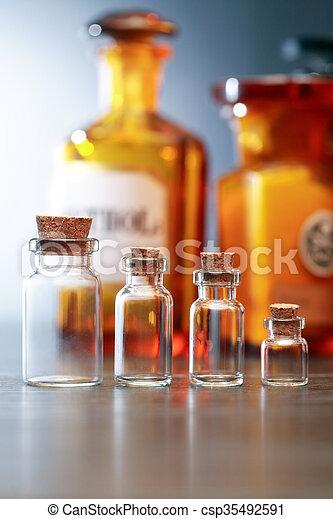 配藥, 管形瓶, 老 - csp35492591