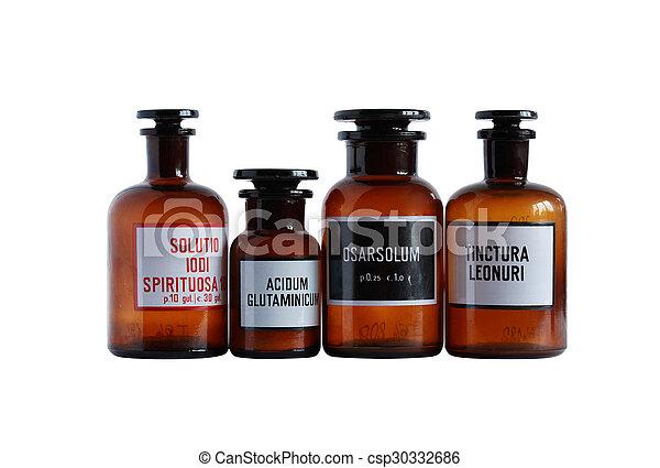 配藥, 管形瓶, 老 - csp30332686