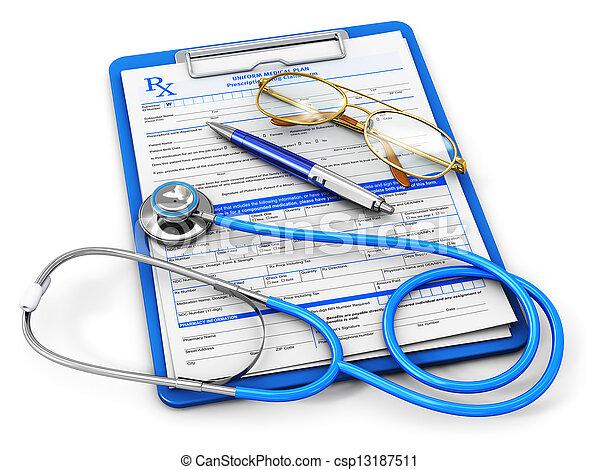 醫學的概念, 保險, 健康護理 - csp13187511
