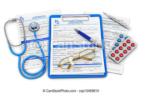 醫學的概念, 保險, 健康護理 - csp13459810