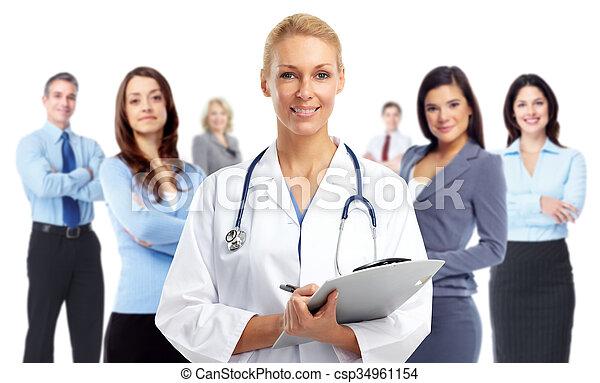醫學的醫生, 年輕, woman. - csp34961154