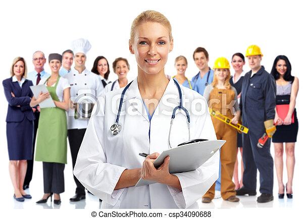 醫學的醫生, 年輕, woman. - csp34090688