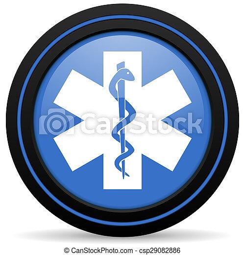 醫院, 圖象, 緊急事件徵候 - csp29082886