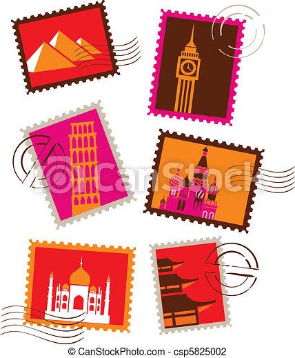 里程碑, 邮票 - csp5825002