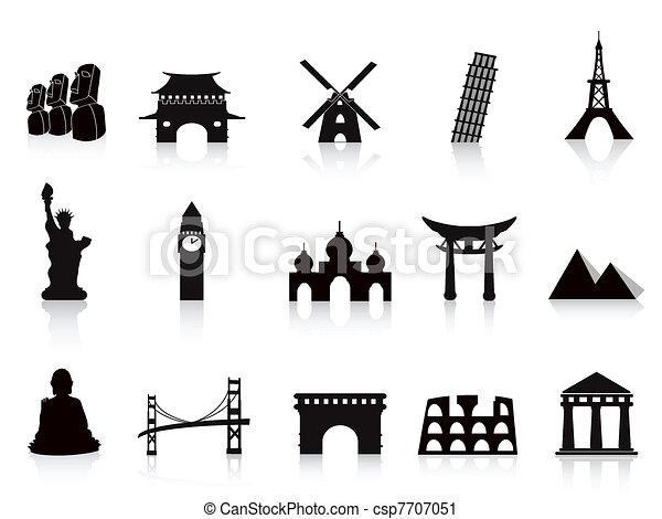 里程碑, 黑色, 图标 - csp7707051