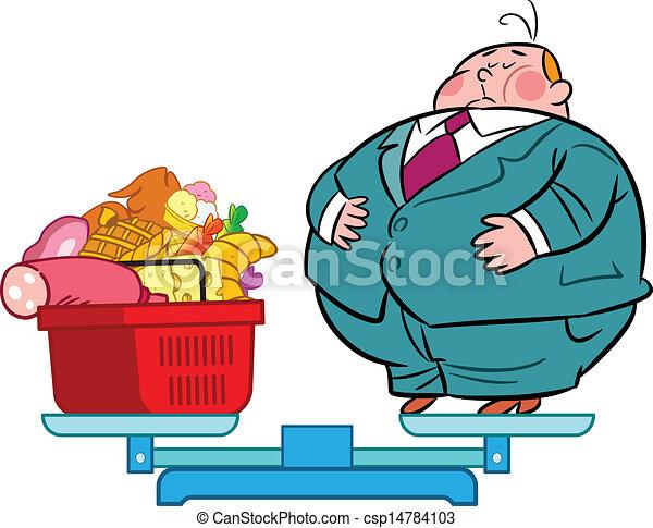 重い 食べる人 別 食物 スケール イラスト 食品 される 脂肪