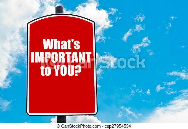 重要, you?, 何か - csp27954534