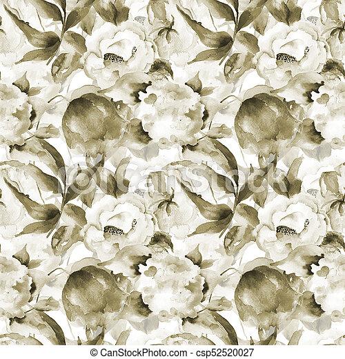野生の 花, seamless, 壁紙 - csp52520027