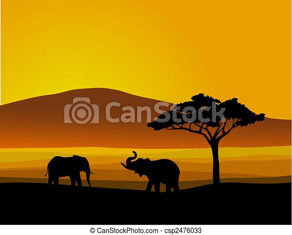 野生生物, アフリカ - csp2476033