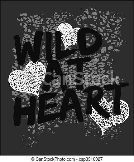 野生, 心, グラフィック, 印刷, 動物 - csp3310027