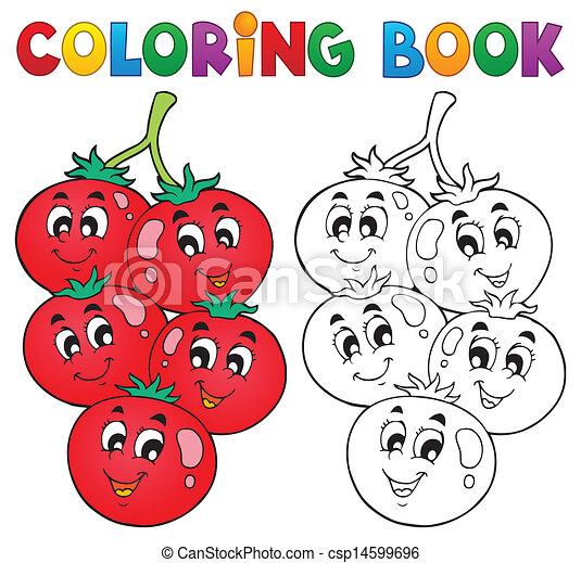 野菜, 主題, 着色 本, 3 - csp14599696
