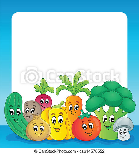 野菜, 1, 主題, フレーム - csp14576552