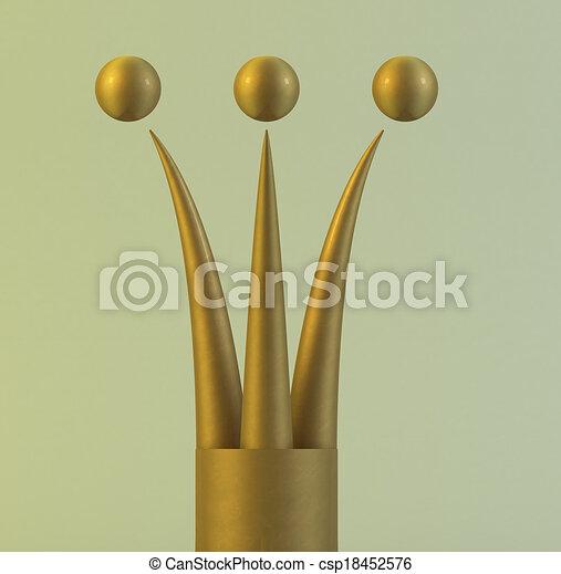 金の王冠, 3d - csp18452576